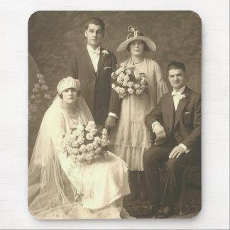 Vintage bröllop (11) musmattor