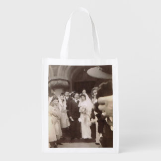 Vintage bröllop återanvändbara kasse