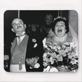 Vintage bröllop avbildar mus mattor