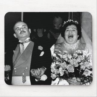 Vintage bröllop avbildar musmatta