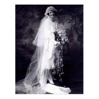Vintage bröllop bruden vykort
