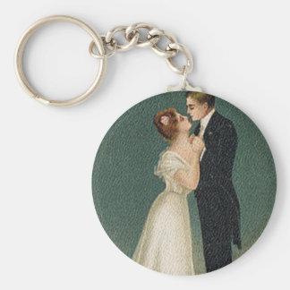 Vintage bröllop rund nyckelring