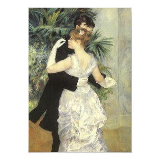 Vintage bröllop stadsdans vid Renoir 12,7 X 17,8 Cm Inbjudningskort