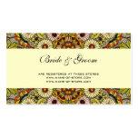 Vintage bröllop trädgård blommar blom- fjärilar visitkort mallar