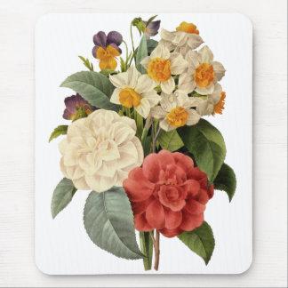 Vintage bröllopbukett som blommar blommor musmattor