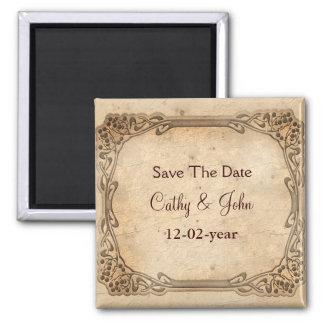 vintage bröllopspara datum magneter