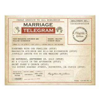 vintage brölloptelegramsINBJUDNINGAR