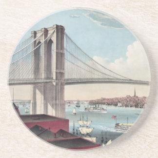 Vintage Brooklyn överbryggar konst Underlägg Sandsten