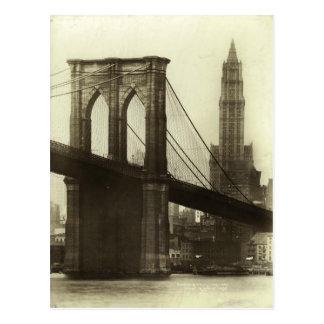 Vintage Brooklyn överbryggar New York City Vykort