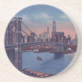 Vintage Brooklyn överbryggar Underlägg Sandsten