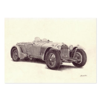 Vintage car: Alfabetisk Romeo 8C Visitkort Mallar