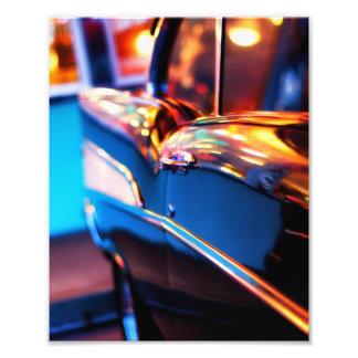 Vintage car fotograferar fototryck