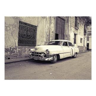 Vintage car fototryck