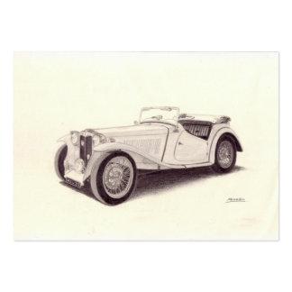Vintage car: MG TC Visit Kort