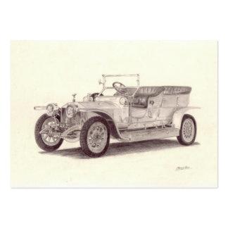 Vintage car: Rolls Royce silverspöke Set Av Breda Visitkort