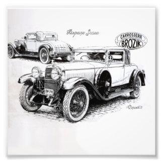 Vintage carillustration fototryck