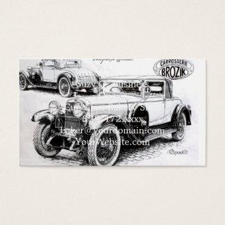 Vintage carillustration visitkort