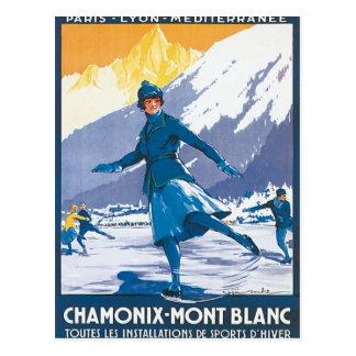 Vintage Chamonix Mont Blanc Vykort