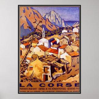 Vintage Corsica, frankriken - Poster
