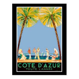 Vintage Cote d'Azur reser Vykort