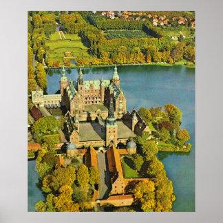 Vintage Danmark Frederiksburg slott Posters
