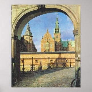 Vintage Danmark, Frederiksburg slott Fra S Broem Poster