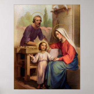 vintage den heliga familjen, Jesus christ, Josef, Poster