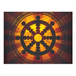 Vintage Dharma rullar trycket Vykort