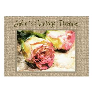Vintage drömm visitkorten set av breda visitkort