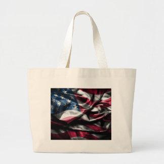 Vintage eleganta lantliga wornout USA Flagg Tygkassar