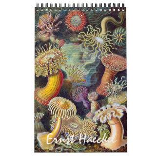 Vintage Ernest Haeckel, biologi, botanik, Kalender