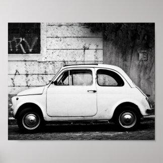 Vintage Fiat 500, Cinquecento, i Rome, Italy. Posters