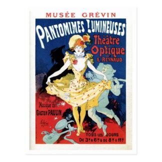 Vintage filmar historieart nouveau vykort