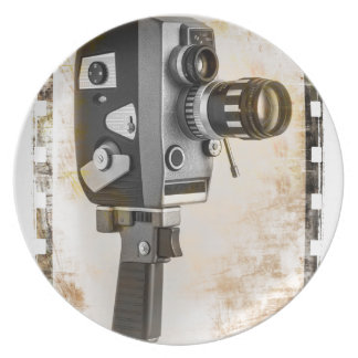 Vintage filmar kameran tallrik