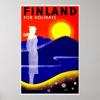 Vintage Finland reser affischen Poster