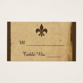 Vintage Fleur De Lis Bröllop ställekort Visitkort