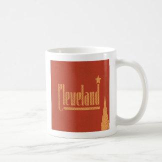 Vintage fodrar den Cleveland Ohio kaffemuggen Kaffemugg