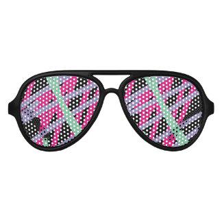 vintage för 80-talsolglasögoneighties färgar party shades