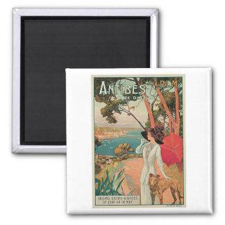 Vintage för Antibes Côte d'Azurfrankriken Magnet