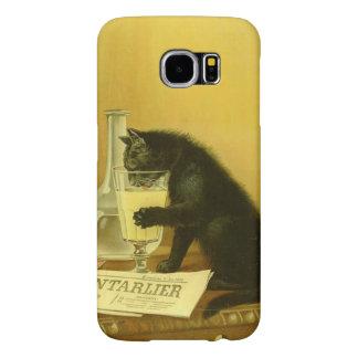 Vintage för art nouveau för svart kattAbsinthe Samsung Galaxy S6 Fodral