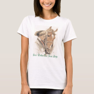 Vintage för hästdamT-tröja Tee Shirt