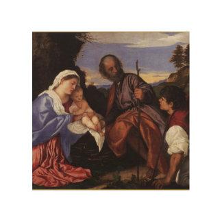 Vintage för herde för Lamb för NativityJesus Krist Trätavlor