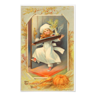 Vintage för kock för thanksgivingdagflicka foton