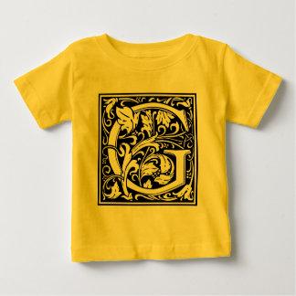 Vintage för Monogram för brevG initial medeltida T Shirts