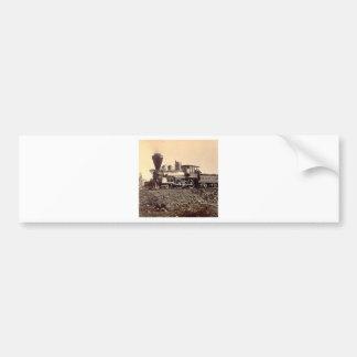 vintage för motor för tågångastång järnväg gammal bildekal