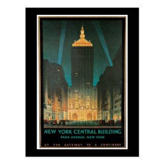 """Vintage """"för New York centralbyggnad"""" Vykort"""