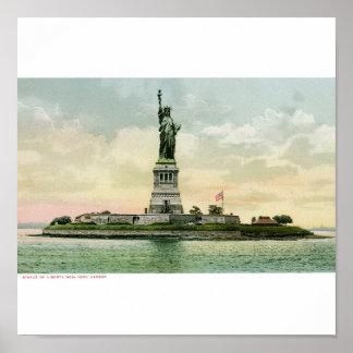 """Vintage""""frihetsgudinnan"""" affisch. New York Poster"""