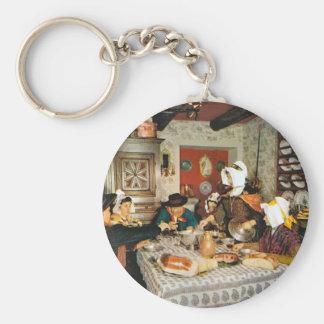 Vintage Frnace, Auvergne, familjmål Rund Nyckelring