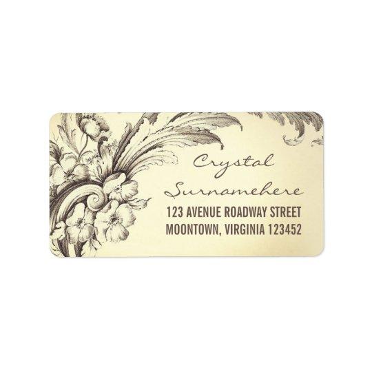 vintage frodasr bröllopadressetiketter adressetikett