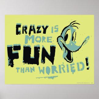 Vintage galna DAFFY DUCK™ Poster